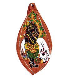 Embroidered Cotton Japa Mala Bag