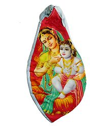 Japamala Cotton Bag with Yashoda Krishna Print