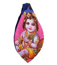 Cotton Japamala Bag with Bal Gopal Print