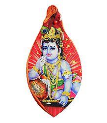 Japamala Cotton Bag with Krishna Print