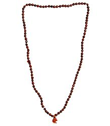 Japamala with 108 Red Chandan wood Beads