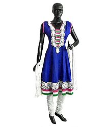 Shop Online Embroidered Churidar Kurta