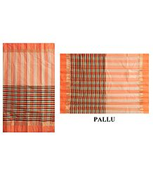 Cotton Stripe Tangail Saree