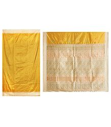 Yellow Bomkai Orissa Silk Saree