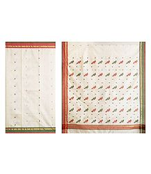 Buy Online All-Over Boota on Ivory Chanderi Saree