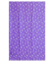 Buy White Floral Print on Mauve Synthetic Saree
