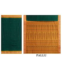 Shop Online Green Bomkai Cotton Saree
