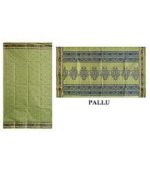 Pista Green Tangail Saree