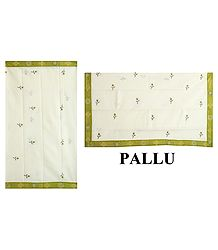 Buy Embroidery on Off-White South Cotton Saree