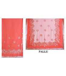 BuyGeorgette Saree with Sequined Border and Pallu