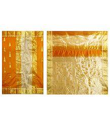 Buy Online Ghicha Silk Half N Half Saree