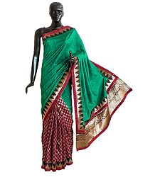 Ghicha Silk Half Saree