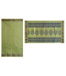 Pista Green Tangail Saree with weaved Boota All-Over