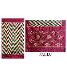 Silk Saree with Ikkat Design - Shop Online