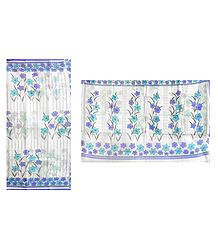 Printed Cotton White Kota Saree