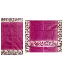 Magenta Cotton Silk Kota Sari with Printed Border
