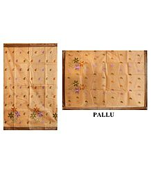 Cotton Silk Kota Saree with Embroidery
