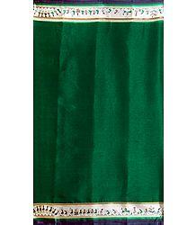 Green Kota Cotton Silk Saree