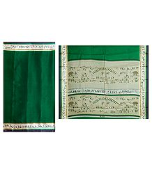 Green Kota Cotton Silk Saree