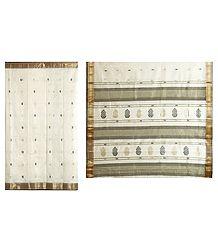 Ivory Maheshwari Saree - Online Shop