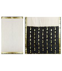 Ivory Color Mysore Silk Saree