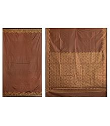 Polycot Sari with Intricately Woven Border and Anchal