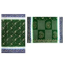 Printed Green Cotton Saree - Online Shop