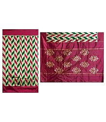 Silk Saree with Ikkat Design - Shop Online