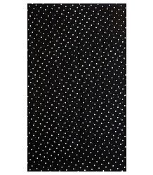 White Polka Dots on Black Chiffon Sari