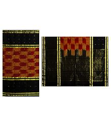 Handloom Cotton Tant Saree with Black Border