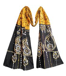 Yellow Cotton Batik Scarf - Online Shop