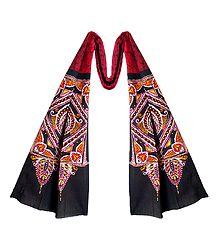 Red Cotton Batik Scarf
