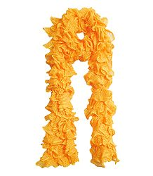 Yellow Crocheted Woolen Scarf