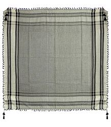 Muslim Woven Check Cotton Scarf