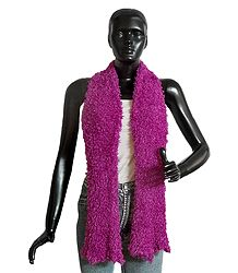Magenta Silk Thread Soft Scarf