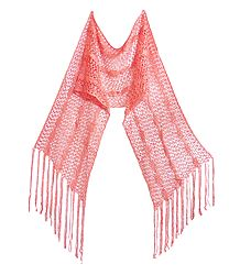 Crochet Knit Silk Thread Scarf