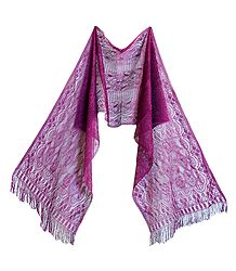 Buy Purple Silk Thread Scarf