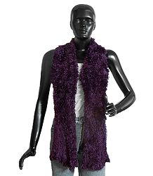 Purple Silk Thread Soft Scarf