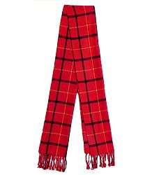 Red Check Woolen Scarf