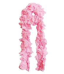 Pink Crocheted Woolen Scarf - Shop Online