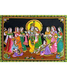 Radha Krishna and Gopinis