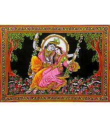 Radha Krishna on a Swing - Buy Online