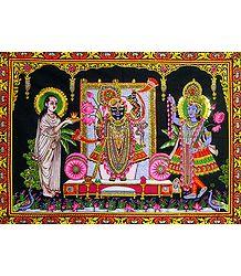 Sreenathji with Krishna and Sudama