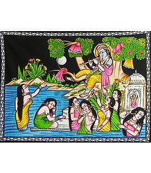 Vastraharan - Painting on Cloth with Sequin Work