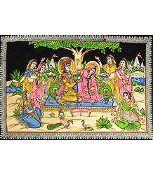 Radha Krishna with Gopinis