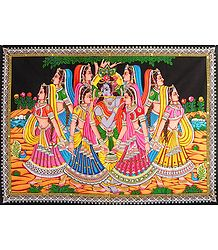 Krishna with Gopinis