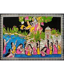 Vastra Haran - Sequin Work on Cloth Painting