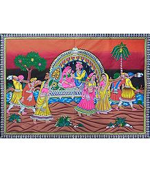 Rajput Couple on a Palanquin