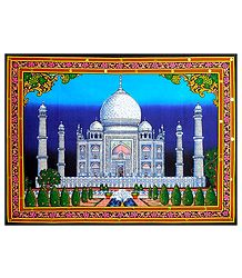 Taj Mahal - Sequin Work on Printed Cloth
