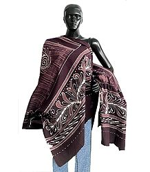 Brown Batik Print Cotton Stole